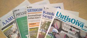 Jämijärven kirjastoon tilattuja sanomalehtiä