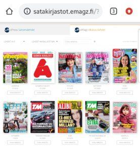 Emagz kotona luettavat e-aikakauslehdet